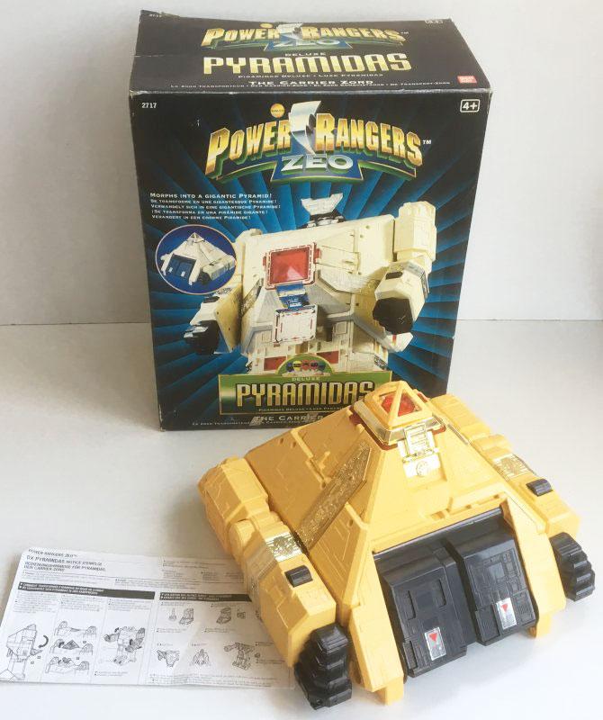 VINTAGE POWER RANGERS ZEO 'DELUXE PYRAMIDAS' Carrier Zord (Bandai 1996)