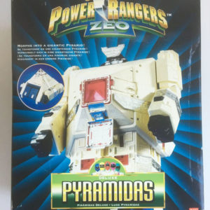 VINTAGE POWER RANGERS ZEO 'DELUXE PYRAMIDAS' Carrier Zord (Bandai 1996) box