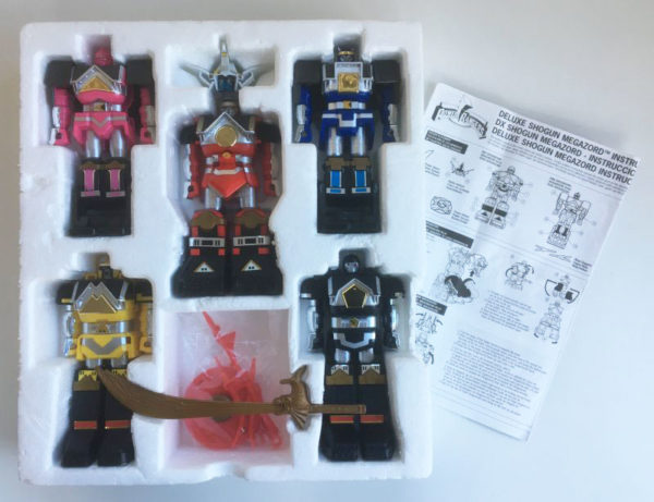 Vintage Bandai Power Rangers Deluxe Shogun Megazord Shogunzords