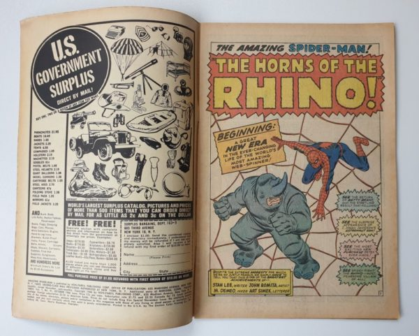 Amazing Spider-Man 41 Vintage Marvel comic 1966
