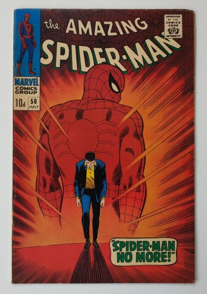 Amazing Spider-Man 50 Vintage Marvel comic 1967 cover