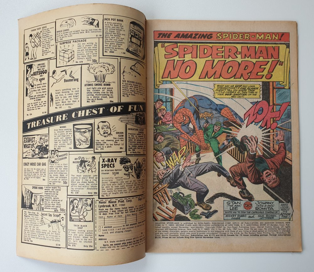 Amazing Spider-Man 50 Vintage Marvel comic 1967