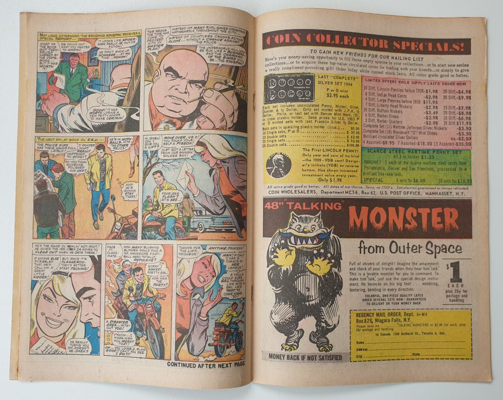 Amazing Spider-Man 50 Vintage Marvel comic 1967 cover