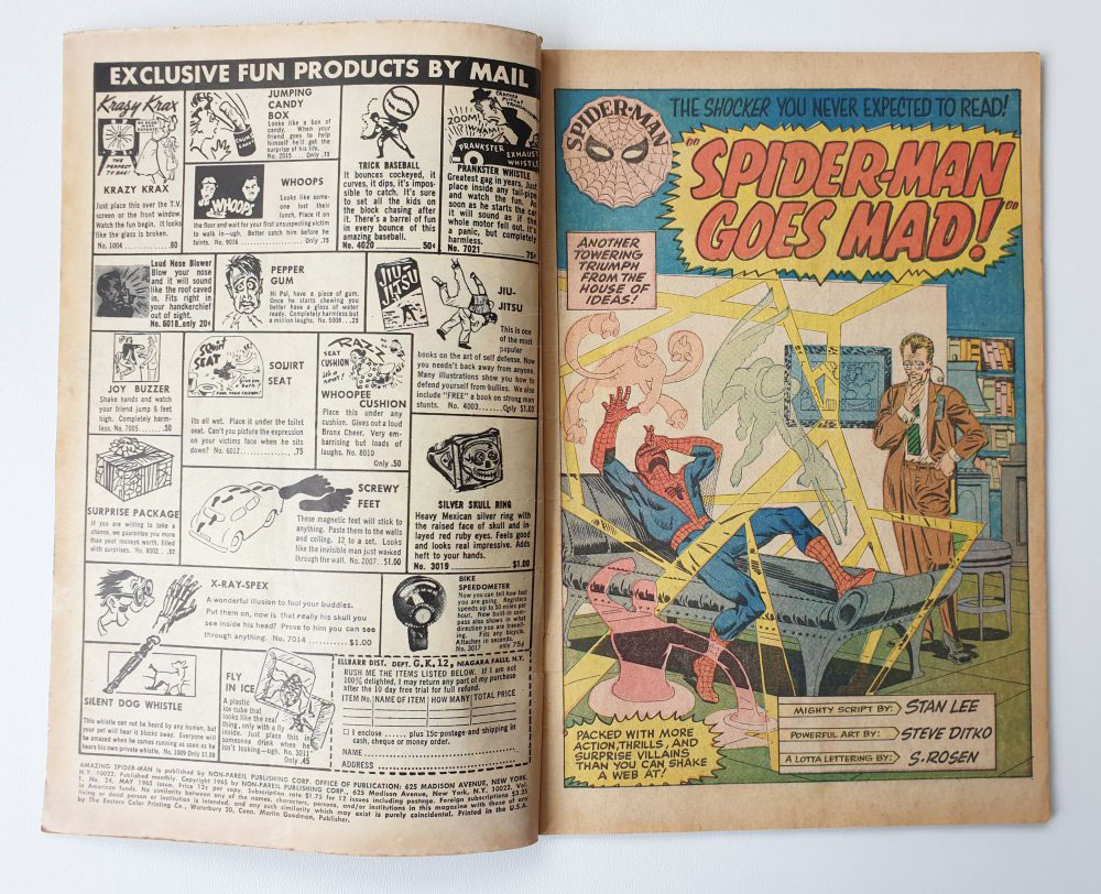 Amazing Spider-Man 24 Vintage Marvel comic 1965