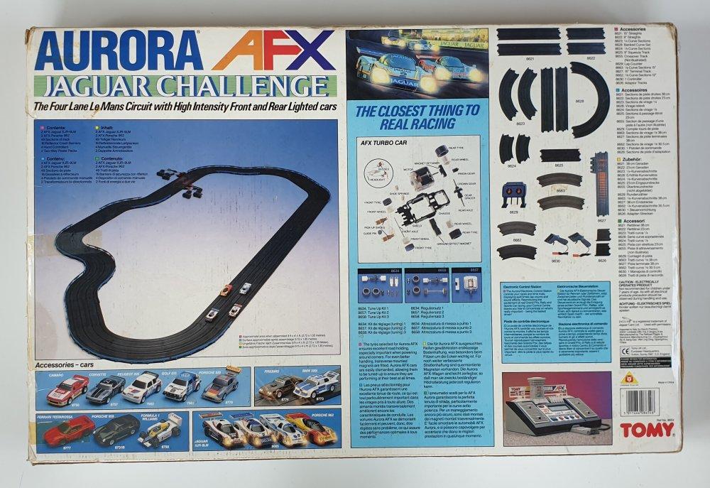Vintage Tomy Aurora AFX Jaguar Challenge Le Mans Set