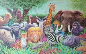 'Carnival of Animals' Vintage Victory Gold Box Puzzle 1500 pieces