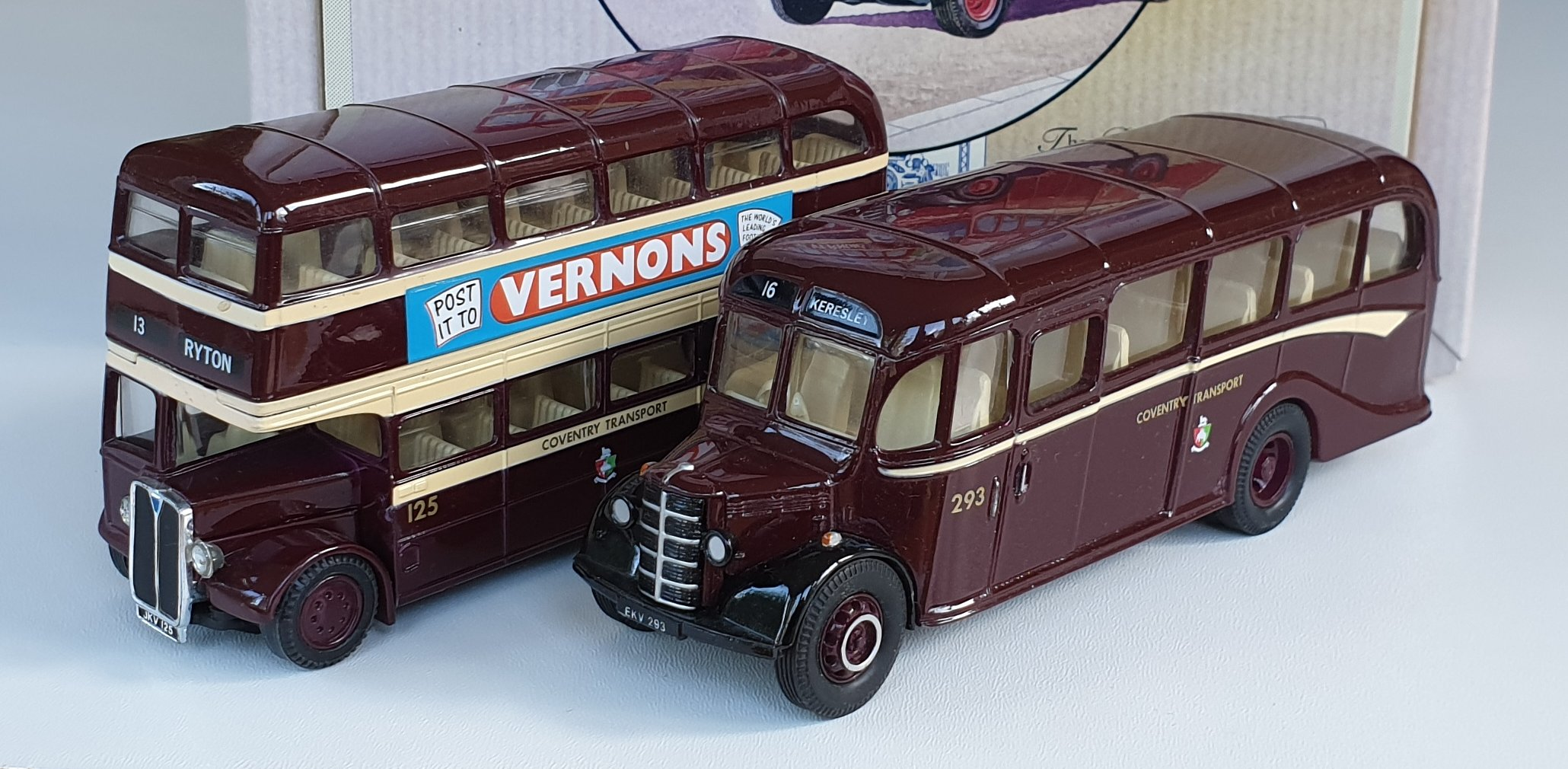 Corgi Classics 97061 Vintage COVENTRY BUS SET (AEC Bus and Bedford OB Coach)