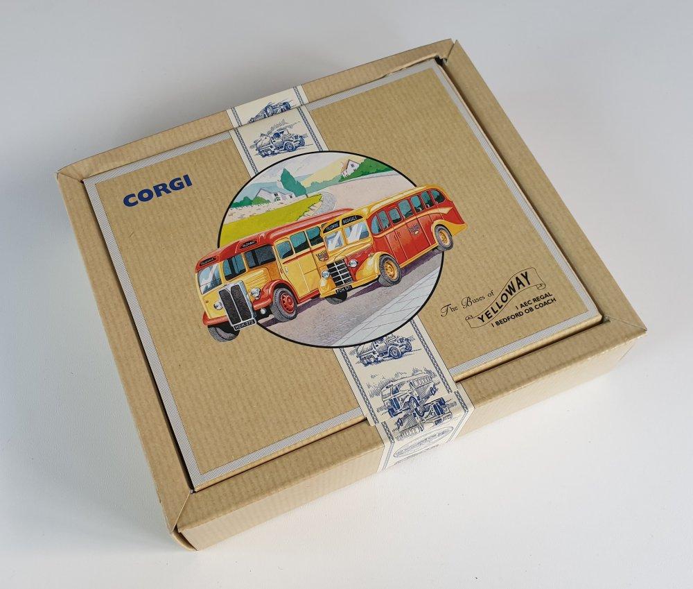 Corgi Classics 97063 Vintage YELLOWAY BUS SET (AEC Regal and Bedford OB Coach)