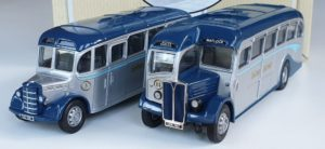 Corgi Classics 97070 Vintage SILVER SERVICE BUS SET (AEC Regal and Bedford OB Coach)