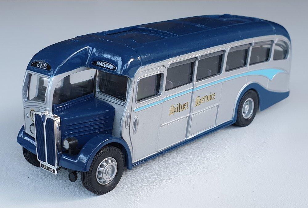 Corgi Classics 97070 Vintage SILVER SERVICE BUS SET (AEC Regal)