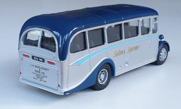 Corgi Classics 97070 Vintage SILVER SERVICE BUS SET (Bedford OB Coach)