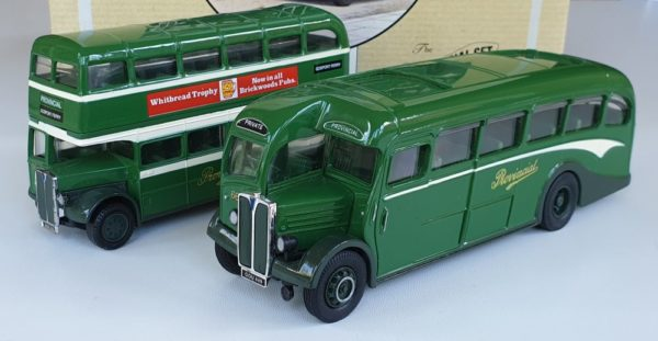Corgi Classics 97072 Vintage PROVINCIAL BUS SET (AEC Regal coach and AEC Bus) Gosport & Fareham