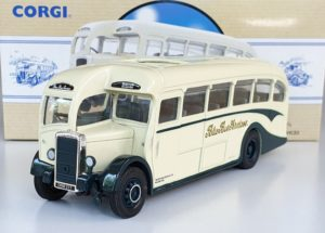 Corgi 97823 VINTAGE DAIMLER 1/2 COACH - BLUE BUS SERVICES DERBYSHIRE