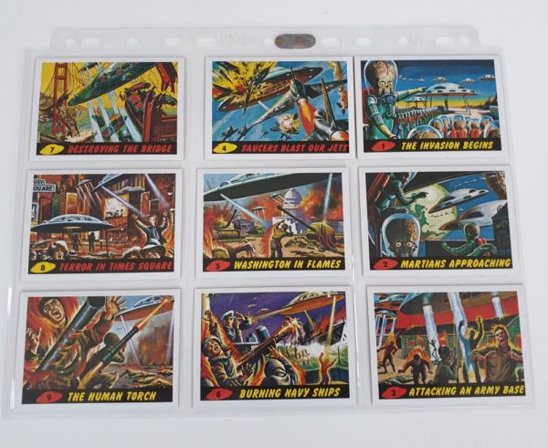 MARS ATTACKS Topps Gum Cards 55 card reissue set