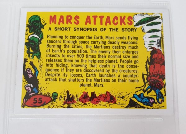 MARS ATTACKS Topps Gum Cards checklist