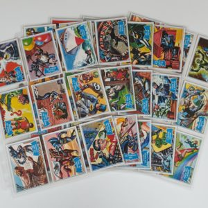 BATMAN 'BLUE BAT' GUM CARDS SET Topps (A&BC) Deluxe 1989 Reissue