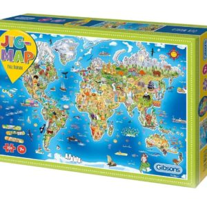 Jig-Map Our World Jigsaw Puzzle Gibsons box