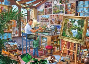 'A WORK OF ART' Jigsaw Puzzle 1000 pcs Gibsons