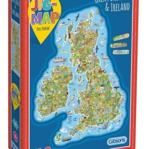 Jig-Map Britain and Ireland Jigsaw Puzzle Box Gibsons