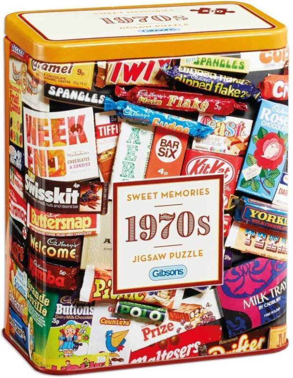 SWEET MEMORIES 1970s Jigsaw Puzzle 500 pieces Gibsons Tin