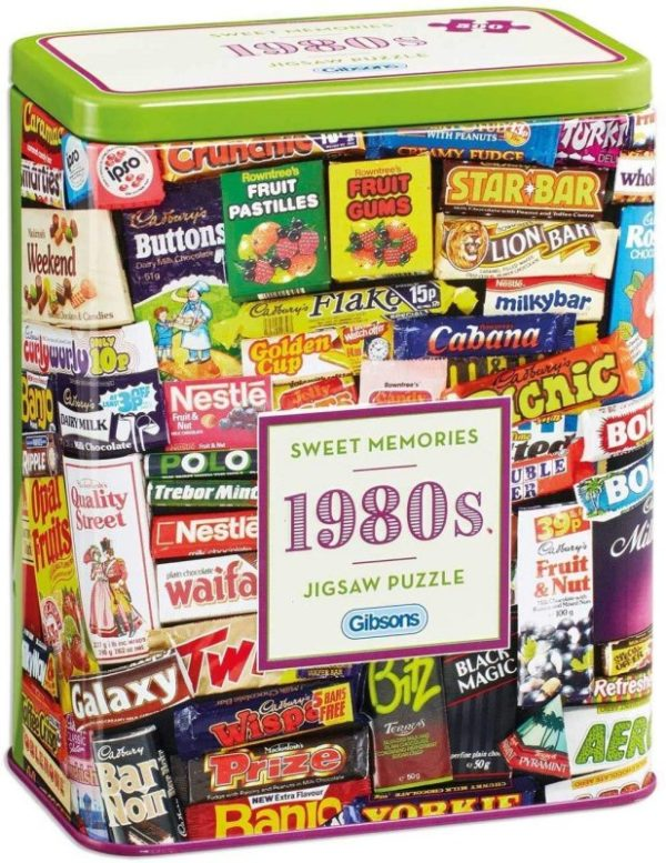 SWEET MEMORIES 1980s Jigsaw Puzzle 500 pieces Gibsons Tin