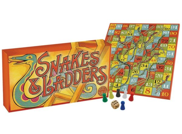 VINTAGE-STYLE SNAKES AND LADDERS BOARD GAME