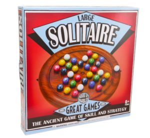 LARGE SOLITAIRE GAME with Marbles