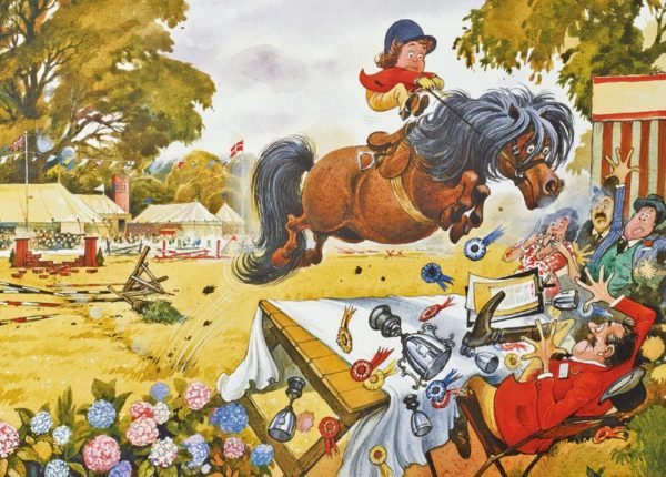 UP FOR THE CUP Thelwell Jigsaw Puzzle Gibsons 1000 pieces