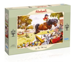 UP FOR THE CUP Thelwell Jigsaw Puzzle Gibsons 1000 pieces box