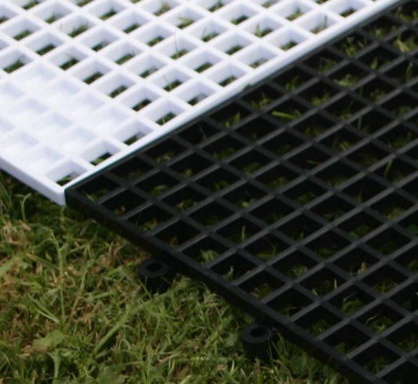 Giant Chess board tiles lawn friendly