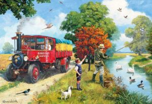 AFTERNOON ANGLING Jigsaw Puzzle Gibsons 500 pieces