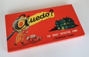 Vintage CLUEDO board game Waddingtons 1950s 1960s