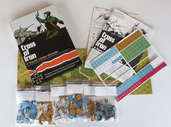 CROSS OF IRON Expansion for SQUAD LEADER Board Game AVALON HILL