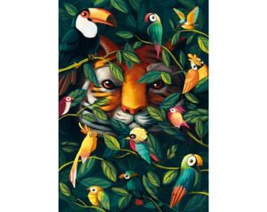 EYE OF THE TIGER Wentworth Wooden Jigsaw Puzzle