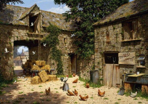 FARMYARD SCENE Wentworth Wooden Jigsaw Puzzle