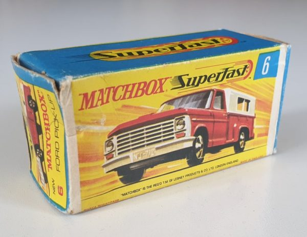 Matchbox Superfast 6 FORD PICK-UP TRUCK Vintage Diecast Model