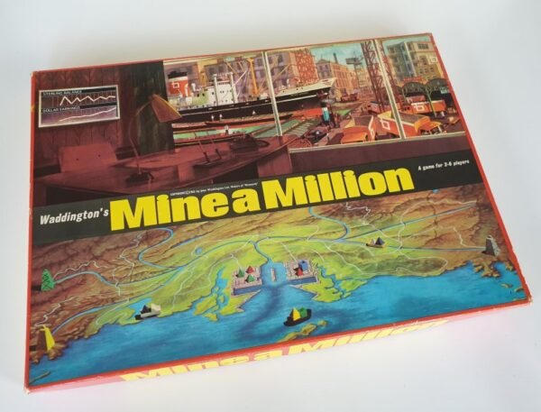 MINE A MILLION Vintage board ghame by Waddingtons 1960's