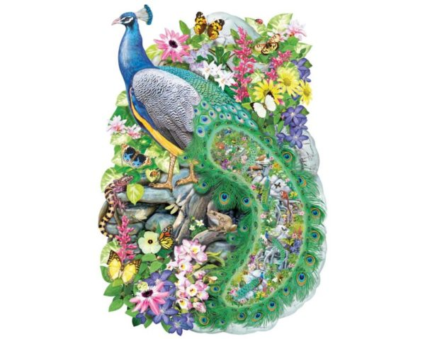 PEACOCK OF INDIA Wentworth Wooden Jigsaw Puzzle