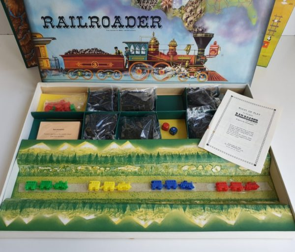 RAILROADER Vintage board game Waddingtons 1960s