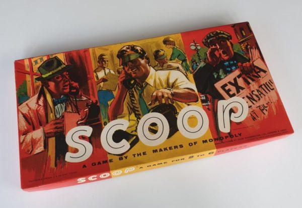 SCOOP Vintage board game Waddington 1960s