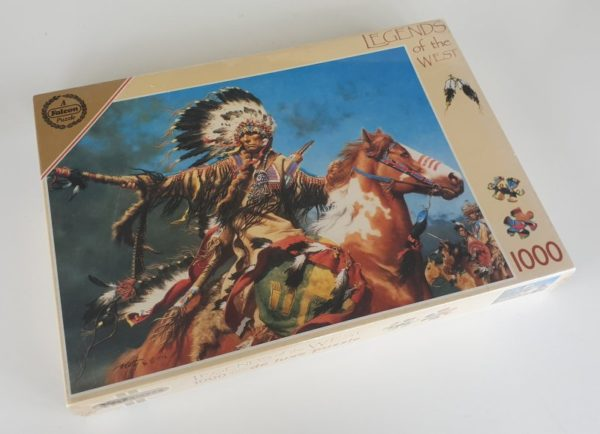 SIGHTING THE INTRUDER Jigsaw Puzzle Falcon Legends of the West 1000