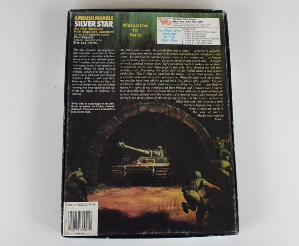 Vintage SILVER STAR Expansion for AMBUSH Board Game Victory Games Avalon Hill