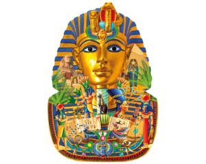 TREASURE OF THE PHARAOH Wentworth Wooden Jigsaw Puzzle