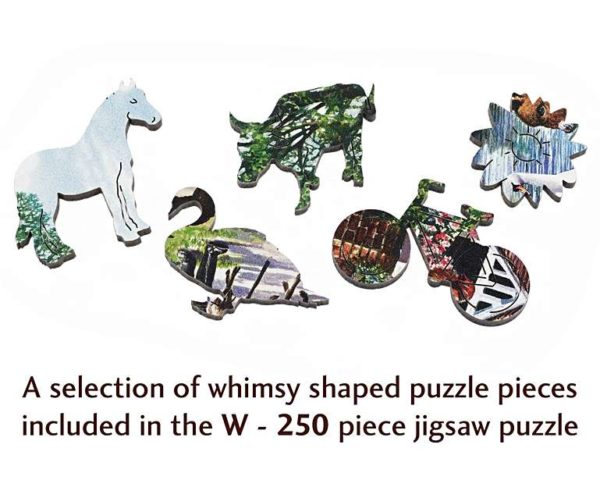 VILLAGE IN SPRING Wentworth Wooden Jigsaw Puzzle Whimsies