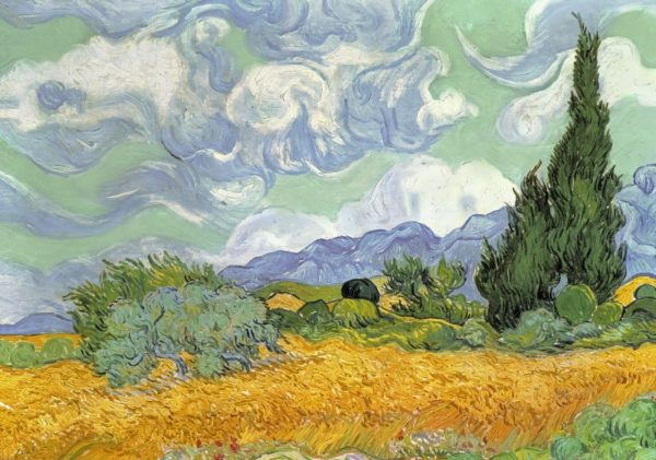 WHEAT FIELD WITH CYPRESSES VAN GOGH Wentworth Wooden Jigsaw Puzzle