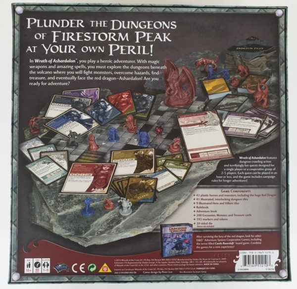 WRATH OF ASHARDALON Board Game Dungeons and Dragons Adventure System