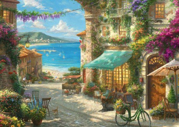 ITALIAN CAFE Jigsaw Puzzle Kinkade Gibsons