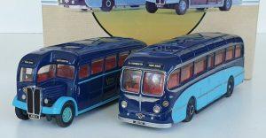 Corgi Classics 97053 YORK BROTHERS NORTHAMPTON BUS COACH SET AEC Regal Burlingham Seagull