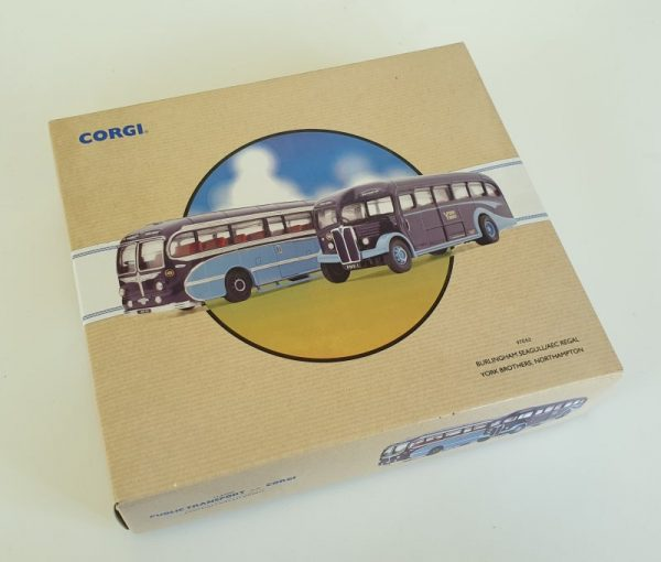 Corgi Classics 97053 YORK BROTHERS NORTHAMPTON BUS COACH SET AEC Regal Burlingham Seagull