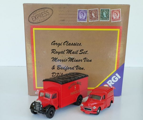 Corgi D7/1 ROYAL MAIL VAN SET Morris Minor Bedford O Van